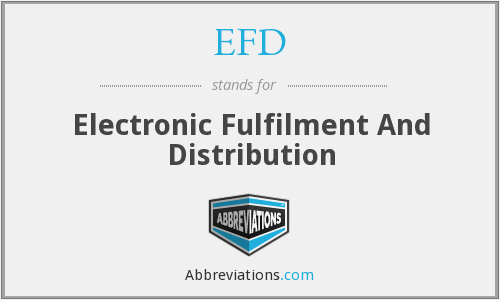 EFD - Electronic Fulfilment And Distribution
