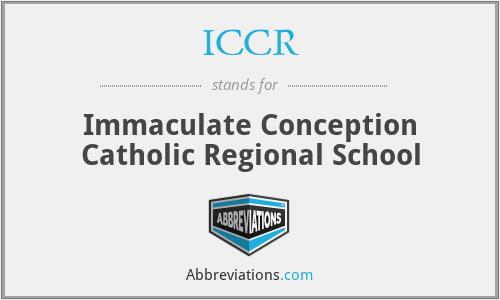 ICCR - Immaculate Conception Catholic Regional School