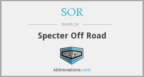 SOR - Specter Off Road