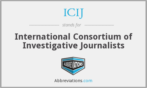What does ICIJ stand for?