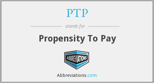 PTP - Propensity To Pay