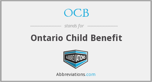 OCB - Ontario Child Benefit