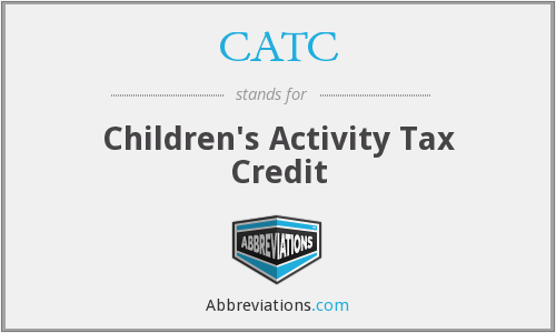 CATC - Children's Activity Tax Credit