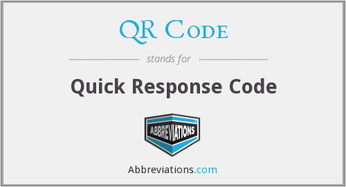 What does QR CODE stand for?