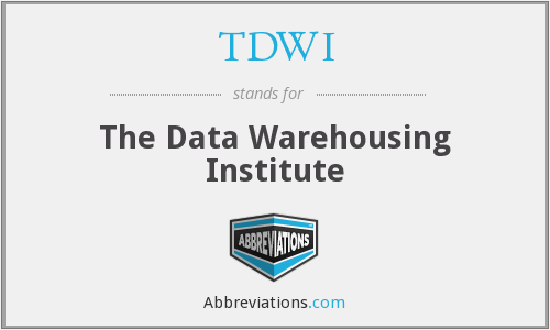 TDWI - The Data Warehousing Institute