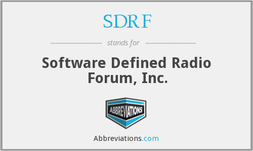 SDRF - Software Defined Radio Forum, Inc.