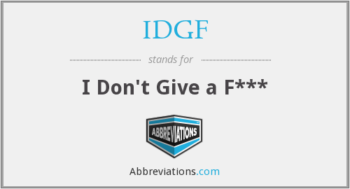 What does IDGF stand for?