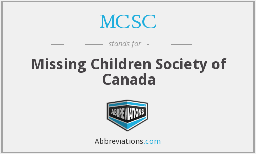 MCSC - Missing Children Society of Canada