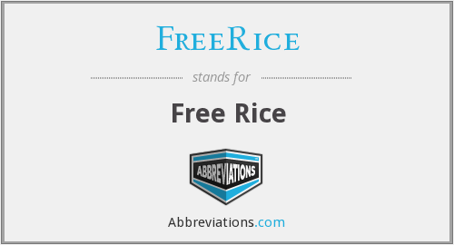 What does FREERICE stand for?