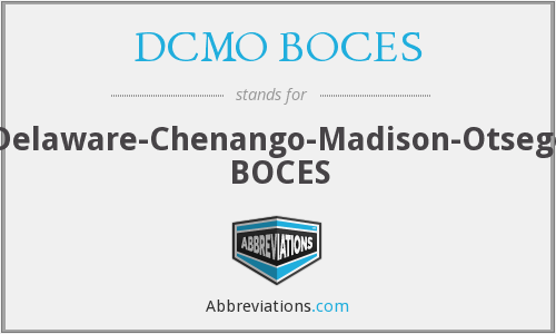 What does DCMO BOCES stand for?