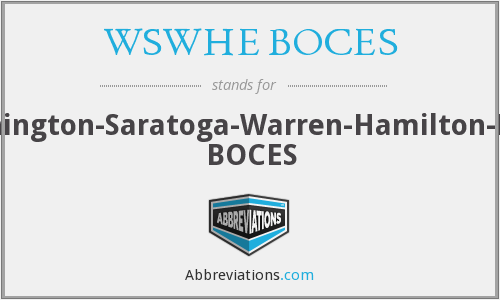 What does WSWHE BOCES stand for?