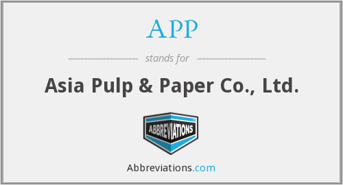 APP - Asia Pulp & Paper Co., Ltd.