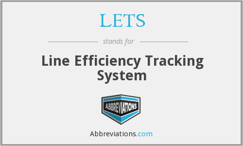 LETS - Line Efficiency Tracking System