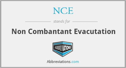 NCE - Non Combantant Evacutation