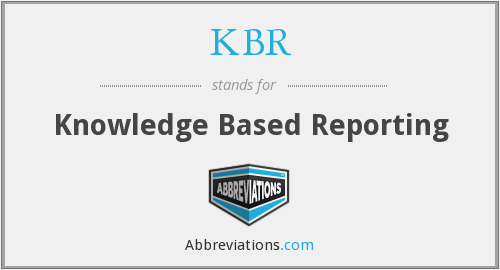KBR - Knowledge Based Reporting