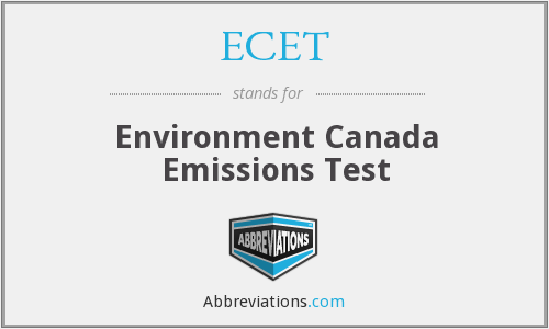 ECET - Environment Canada Emissions Test
