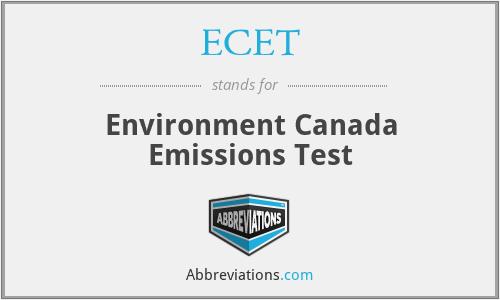 ECET - Environment Canada Emissions Test
