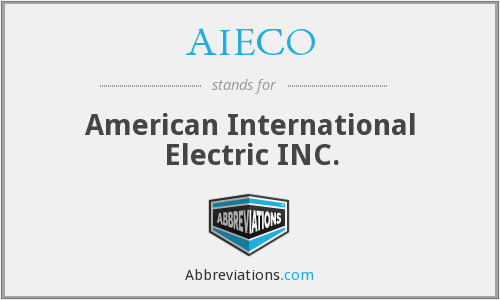 AIECO - American International Electric INC.