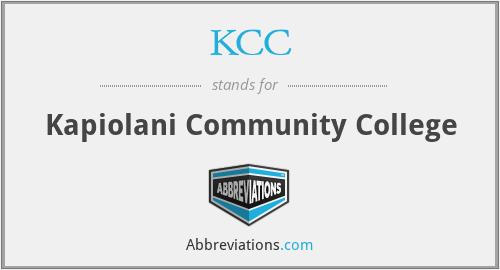 KCC - Kapiolani Community College