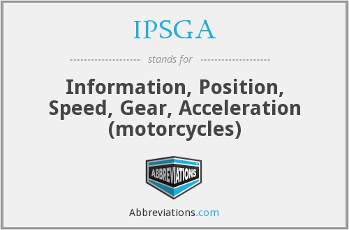 IPSGA - Information, Position, Speed, Gear, Acceleration (motorcycles)