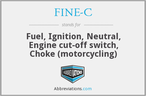 FINE-C - Fuel, Ignition, Neutral, Engine cut-off switch, Choke (motorcycling)