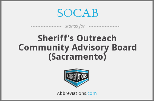 SOCAB - Sheriff's Outreach Community Advisory Board (Sacramento)