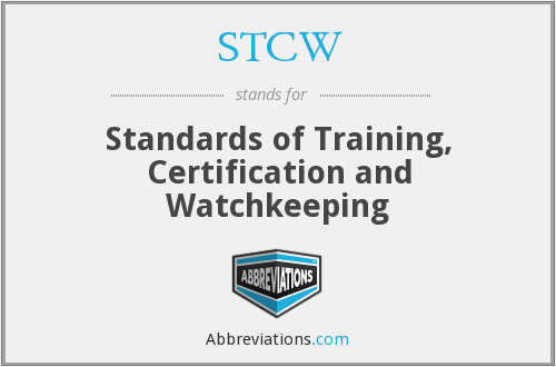 What does STCW stand for?