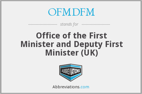 What does OFMDFM stand for?
