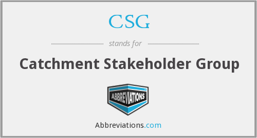 CSG - Catchment Stakeholder Group