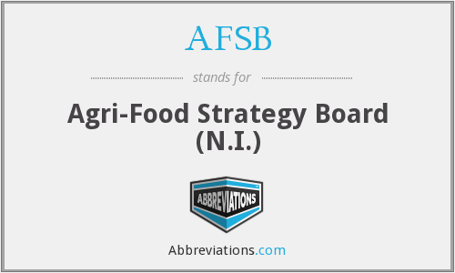 AFSB - Agri-Food Strategy Board (N.I.)