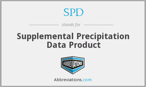 SPD - Supplemental Precipitation Data Product