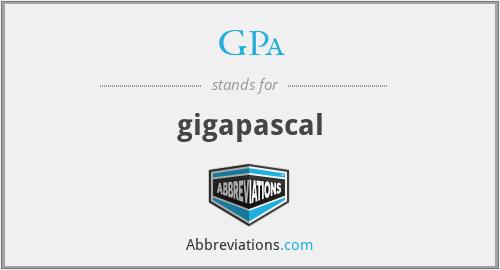 GPa - gigapascal