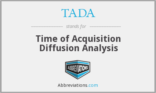TADA - Time of Acquisition Diffusion Analysis