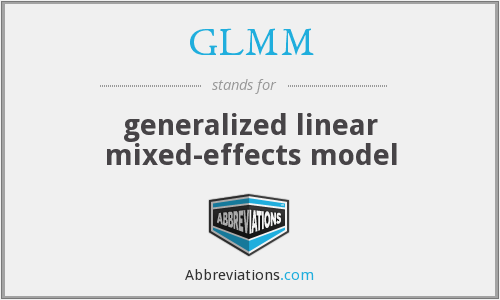 GLMM - generalized linear mixed-effects model