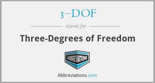 3–DOF - Three-Degrees of Freedom
