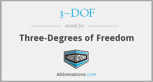 3–DOF - Three-Degrees of Freedom