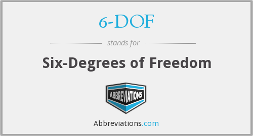 6-DOF - Six-Degrees of Freedom