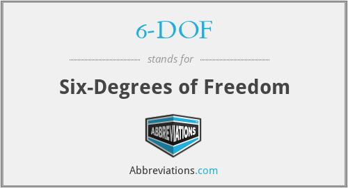 6-DOF - Six-Degrees of Freedom