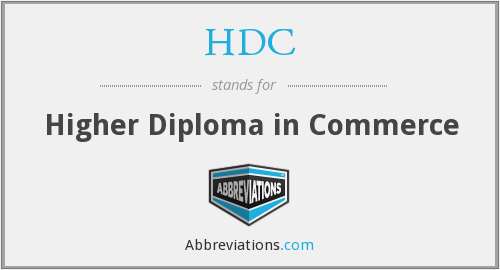 HDC - Higher Diploma in Commerce