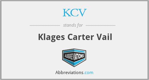 KCV - Klages Carter Vail