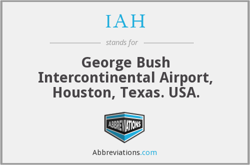 IAH - George Bush Intercontinental Airport, Houston, Texas. USA.