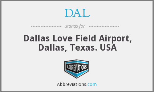 DAL - Dallas Love Field Airport, Dallas, Texas. USA