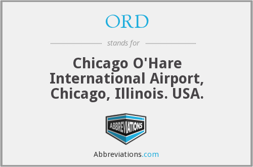 ORD - Chicago O'Hare International Airport, Chicago, Illinois. USA.