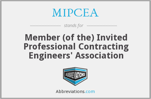 What does MIPCEA stand for?