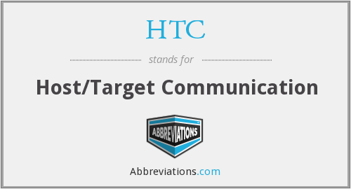 HTC - Host/Target Communication