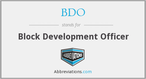 BDO - Block Development Officer