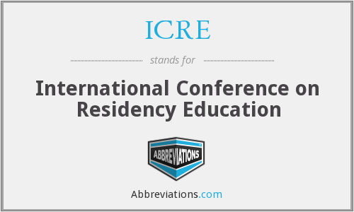 ICRE - International Conference on Residency Education