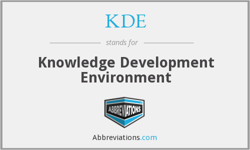 KDE - Knowledge Development Environment