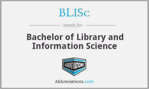 What does BLISC stand for?