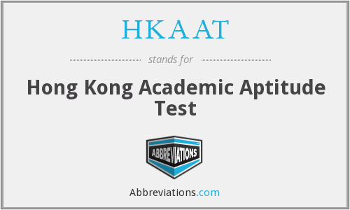 HKAAT - Hong Kong Academic Aptitude Test
